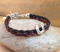 Braided Horsehair Bracelet with Horseshoe or Heart by JaxSnacks, $48.00