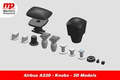 Airbus A320 – Knobs – 3D Models I had an idea ones, to build a full scale Airbus A320 cockpit. It took me a while, but after few years, I designed...