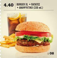 BeFresh | Menu > Προσφορά: 08 Espresso Bar, Hamburger, Menu, Fresh, Chicken, Ethnic Recipes, Food, Menu Board Design, Eten