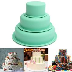 3 Pcs DIY Round Silicone Cake Baking Pan Turn Sugar Cake Mold is fashionable and cheap, come to NewChic to see more trendy 3 Pcs DIY Round Silicone Cake Baking Pan Turn Sugar Cake Mold online. Chocolate Pastry, Cake Baking Pans, Cake Pans, Wine Supplies, Baking Supplies, Garden Supplies, Bolo Grande, Magnetic Spice Tins, Fondant