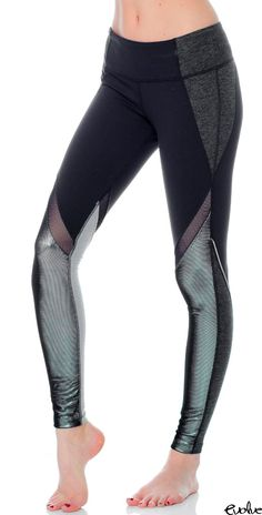 Stand out in your workout class with these shimmery leggings from Splits59! Shop now at www.evolvefitwear.com.
