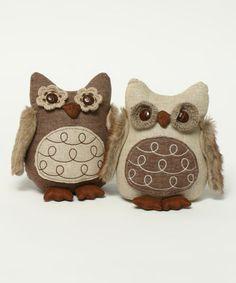 Look at this #zulilyfind! Large Snootie Owl Figurine Set #zulilyfinds