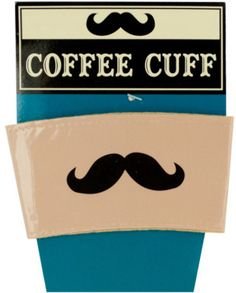 3778b726efb6e Vinyl Mustache Coffee CuffKeep hands cool and add style to hot coffee cups  with this Vinyl