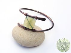 Sacred Grove Copper Wire Work Bangle with Jade Stone
