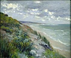 Gustave Caillebotte -Cliffs by the sea at Trouville