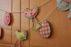 Easter garland chicks and eggs by Littlewhiteboutique on Etsy