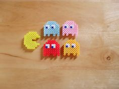 PacMan Sprite Magnet Set of 5 by DelightfulEpiphany on Etsy, $5.00