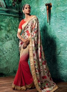 Style and design and pattern could be on the peak of your attractiveness after you dresses this red satin and net designer saree. The pretty patch border work a intensive characteristic of this attire...