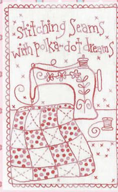 Stitching Seams Stitchery- by Rosalie Quinlan -Stitchery Pattern