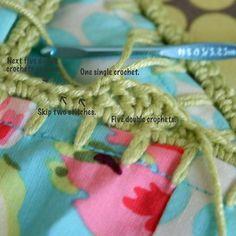 pillowcase edge crochet tutorial