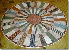 Civil War Reproductions-Round Quilt-Fabrics N Quilts