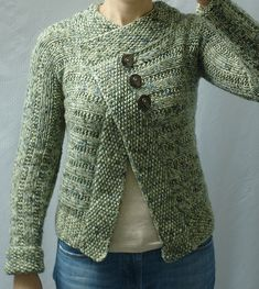 Knit Side-to-Side Cardigan by Grace Alexander - free pattern... Cougardiva