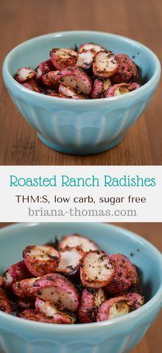 Roasted Ranch Radishes - Briana Thomas