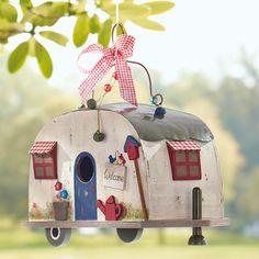 """❤❤ Copyrights unknown. Vogelhaus Wohnwagen """"Retro"""" caravan birdhouse ~ GINGAR Online Shop"""