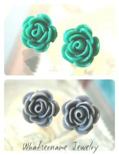 Rose Cabochon Earring DIY