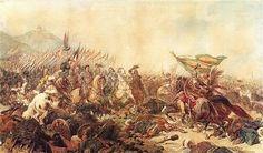 Representación en el arte de la guerra entre los Cruzados y los turcos.
