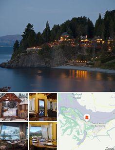El hotel goza de una ubicación privilegiada en un acantilado de Playa Bonita, a orillas del lago Nahuel Huapi, cerca de la ciudad y del bosque, y a solo 7 km del centro de Bariloche. Hay paradas de transporte público a las puertas del hotel y la estación de autobuses está a 8 km aproximadamente.