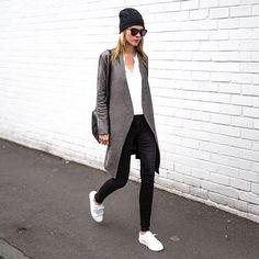"TheTrendSpotter.net on Instagram: ""Sporty-casual  @saintjeromestore #streetstyle #monochrome #fashion #thetrendspotter"""