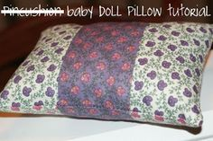 Do you like sewing for dolls? Then make this Quilted Baby Doll Pillow. If you don't know how to make a pillow, then this tutorial will teach you on an itsy bitsy scale. Read more at http://www.favequilts.com/Mini-Quilts-and-Doll-Quilts/Quilted-Baby-Doll-Pillow#JesORUqh0FZKV87v.99