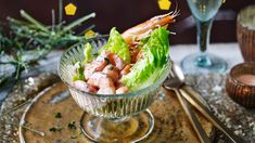 Prawn cocktail with Marie Rose sauce recipe - BBC Food Rose Sauce Recipe, Sauce Recipes, Seafood Recipes, Tarts Recipe, Fish Recipes, Bbc Good Food Recipes, Cooking Recipes, Marie Rose Sauce, Cocktail Recipes