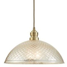 Allen + Roth Lynlore 15.98-In Old Brass Vintage Hardwired Single Mercury Glass Dome Standard Pendant B10031