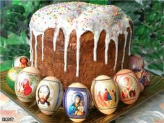 Easter- The day before Easter all churches hold night services and organize religious processions around churches. By that time, kulich, the traditional holiday baking symbolizing the body of Christ, had been already baked and Easter eggs painted. The morning starts from visiting neighbors and giving away Easter eggs.