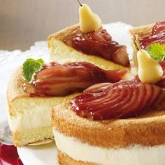 Birnen-Creme-Torte Creme, Muffins, Cheesecake, Desserts, Cakes, Food, Pears, Tailgate Desserts, Muffin