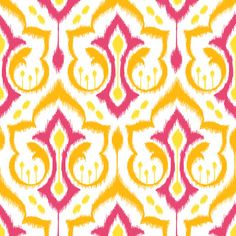 Ikat Damask - Berry Brights Art Print
