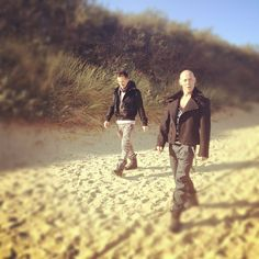 "EAST 17 while shooting new video ""Counting Clouds"" (Camber beach)"