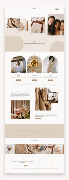 The Willow Template is a modern, organic, and Photography forward Squarespace 7.1 Template design crafted specifically for service-based businesses that want to show off visual galleries and services. #Squarespace #BuySquarespace #TemplateKit #SquarespaceTemplate #Business #Photographers #EventPlanners