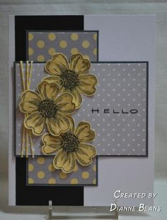 Polka Dot Flowers by sarahebo - Cards and Paper Crafts at Splitcoaststampers