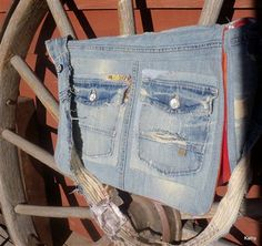 Messenger Bag from Old Jeans - from Sew Daily member AmyCavanessDesigns