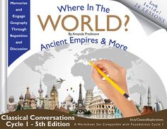 Youve found the Ancient Empires & More through the Where in the World Geography Series by Amanda Predmore. A Geography Curriculum compatible with Classical Conversations 5th Edition Foundations Guide. This guide includes: - 24 lesson plans - 163 pages - 123 parts of world