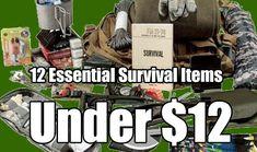 12 Essential Survival Items Under $12, survival gear, survival, prepping gear, prepping, shtf, go bag contents, cheap survival kit, survival kit,