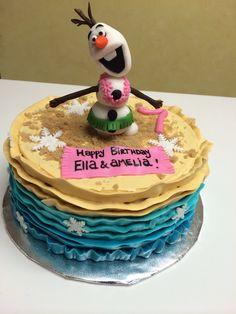 Olaf in Summer cake (Frozen).