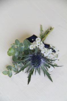 The Flower Magician: Midnight Blue Bridal Bouquet & Boutonniere