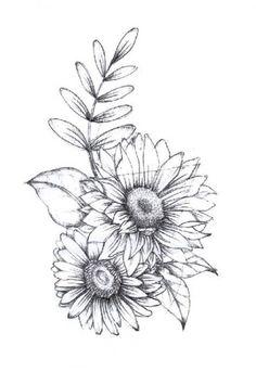 Drawing tattoo sunflower beautiful ideas Drawing Tips sunflower drawing Sunflower Tattoo Sleeve, Sunflower Tattoo Shoulder, Sunflower Tattoo Small, Flower Sleeve, Sunflower Tattoos, Sunflower Tattoo Design, Shoulder Tattoo, White Sunflower, Sunflower Art