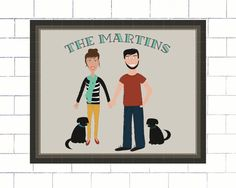 Custom Family Portrait Illustration Add-On // DIY Printable, Printed Set, Home Decor, Family Portrait, Personalized wall art