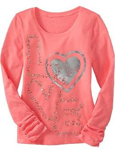 Girls Graphic Ruched-Sleeve Tees | Old Navy Winter Sweaters, Maternity Wear, Summer Kids, Old Navy, Tee Shirts, Cute Outfits, Graphic Sweatshirt, Man Shop, Girls Tees