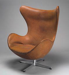 Arne Jacobsen, 'Egg' armchair, Danish, 1957 | The Metropolitan Museum of Art | 1950s SCANDINAVIAN DESIGN