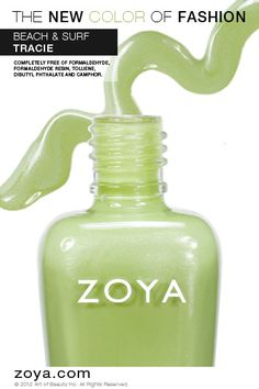 RE-PIN ME! Zoya Nail Polish in Tracie from the Beach Collection http://www.zoya.com/content/38/item/Zoya/Zoya-Nail-Polish-Tracie-ZP618.html?O=PN120521MN00139