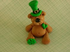 St Pattys Day Lucky For You Bear by ClayBabiesInc on Etsy, $12.95