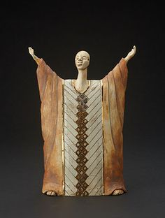 Stoneware Clay Celebration Figure - South Africa www.africaandbeyond.com Ceramic Pottery, Ceramic Art, Ceramic Figures, Safari Animals, Stoneware Clay, African Art, Sculpture Art, South Africa, Art Projects