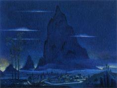 "Kay Rasmus Nielsen (1886-1957) - Night on the Bald Mountain (from the movie ""Fantasia""), 1940"