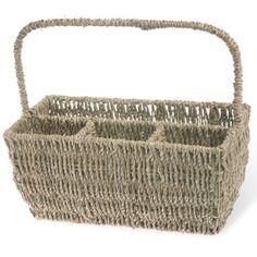 Found it at Wayfair - Boston International Seagrass Flatware Basket Caddy with Handle