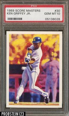d310d3a91b 1989 Score Masters #30 Ken Griffey Jr. Mariners RC Rookie HOF PSA 10  #BaseballCards