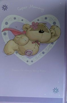 MOTHERS DAY CARD SUPER MUMMY fizzy moon design LARGE card #FizzyMoon #MothersDay Fizzy Moon, Moon Design, Main Colors, Mothers, Greeting Cards, Handmade Items, Teddy Bear, Day, Animals