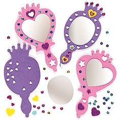 Foam mirror kits for little princesses to make and play with.