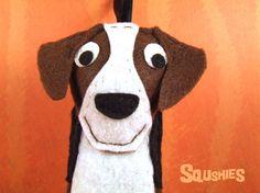 Felt Dog Ornament, Christmas Decoration - Barclay the Beagle from squshies