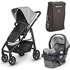 UPPAbaby 2015 Cruz Travel System with Travel Bag in Pascal Grey